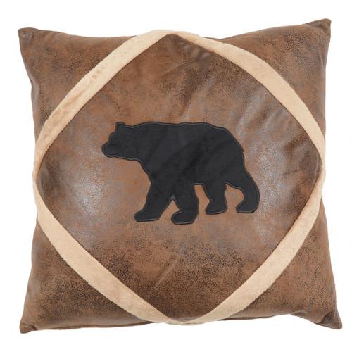 Shearling Diamond Bear Pillow