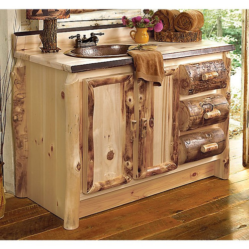 Aspen Log Bathroom Vanity - 36 Inch