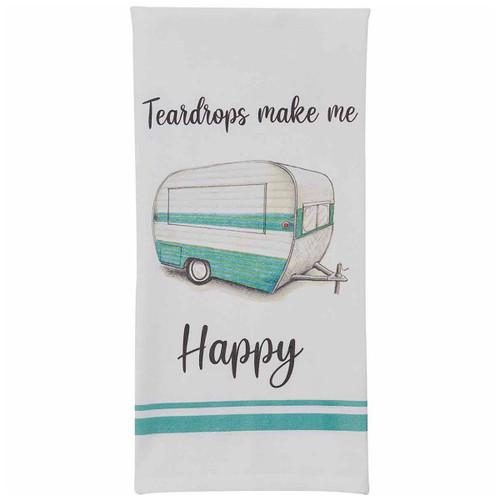 Happy Teardrops Printed Dishtowels - Set of 6