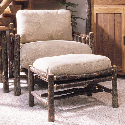 Black Forest Berea Hickory Lounge Chair and Ottoman