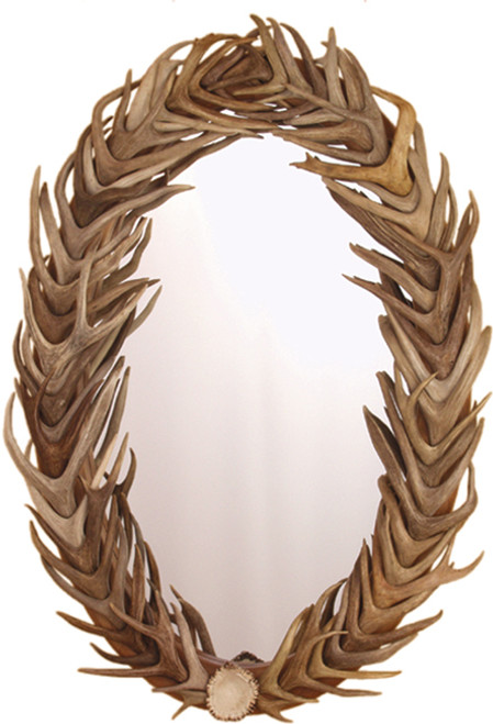 Large w/ Full Deer Antler Cover (Authentic Antlers)
