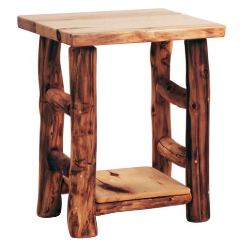 Heirloom Log Nightstand
