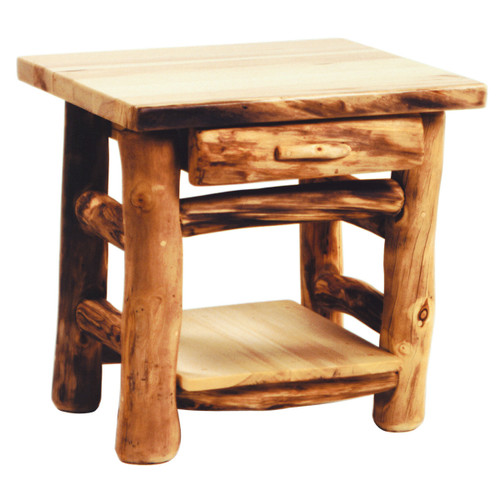 Heirloom Log One Drawer End Table