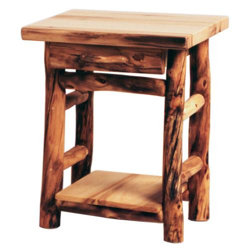 Heirloom Log One Drawer Nightstand