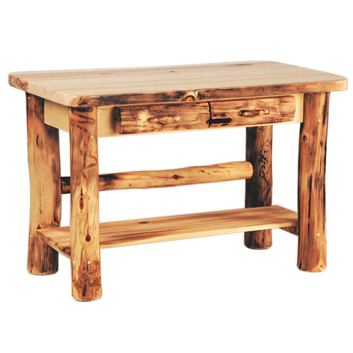 Heirloom Log Sofa Table with Drawers - 4 Foot