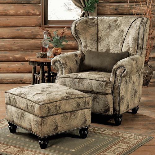 Pinecone Dusk Chair & Ottoman