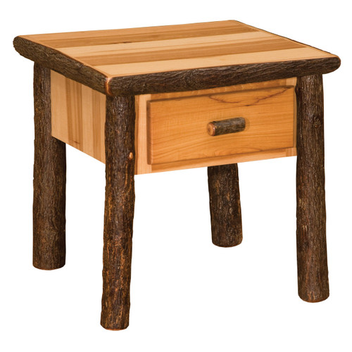 Hickory One Drawer End Table