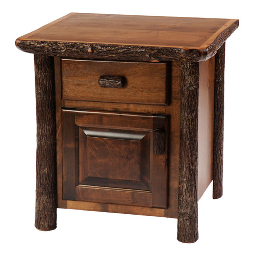 Hickory Enclosed Nightstand - Traditional Hickory