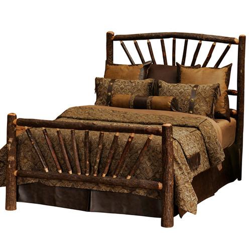Hickory Sunburst Complete Bed - Queen