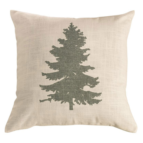 Hill Country Green Pine Tree Linen Accent Pillow