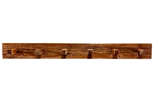 Homestead 4' Coat Rack - Stained & Lacquered