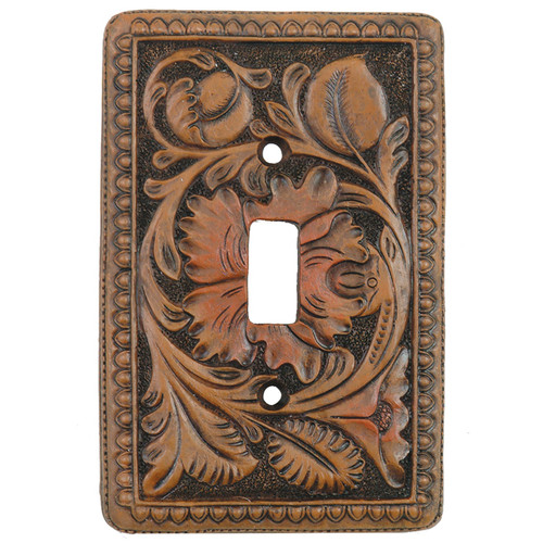 Tooled Leather Switch Plate Covers