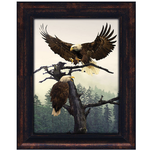 Majestic Eagles Personalized Framed Canvas