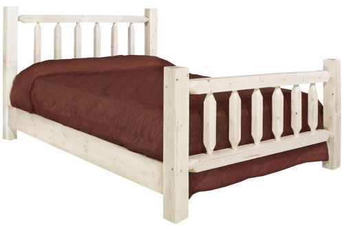 Homestead Full Log Bed - Lacquered