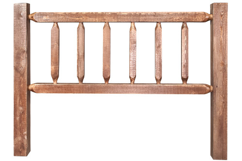 Homestead Queen Log Headboard - Stained & Lacquered