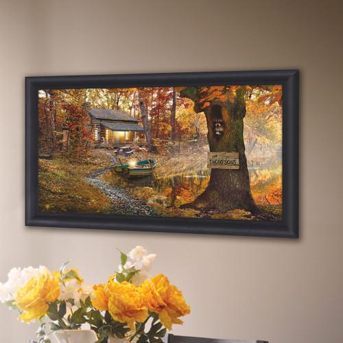 Personalized Lake Lodge Framed Art