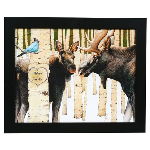 Personalized Moose Love Print