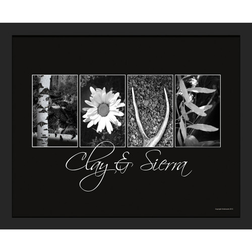 """Personalized Nature """"Love"""" Framed Canvas"""