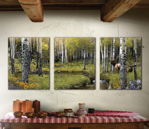 Personalized Timber Wilderness Triptych Wall Art