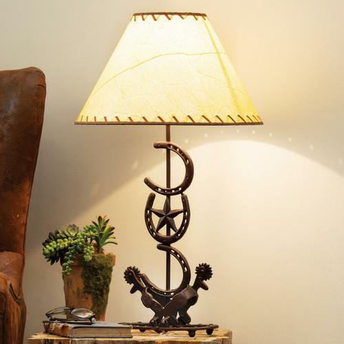 Horseshoe Star Table Lamp