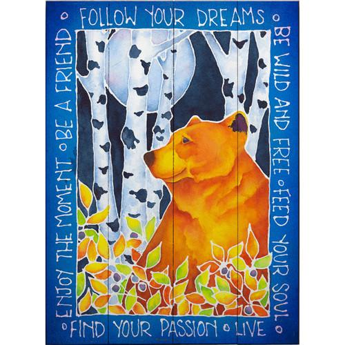 Huckleberry Haven Wood Wall Art - 17 x 23