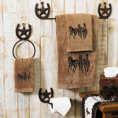 Running Horse Mocha Towel Set (3 pcs)