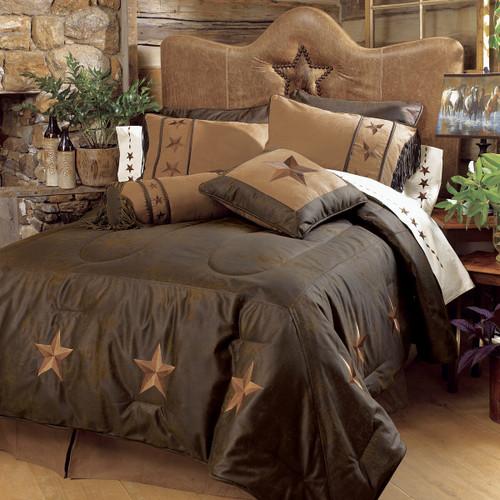 Laredo Chocolate Bed Set - Super Queen