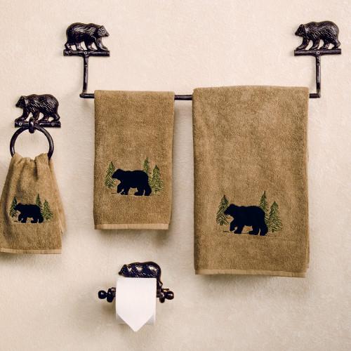 Kodiak Bear Cast Bath Hardware