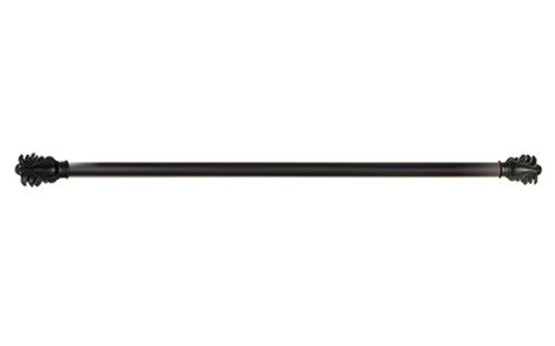 Feather Rod in Black Finish - 48 Inch