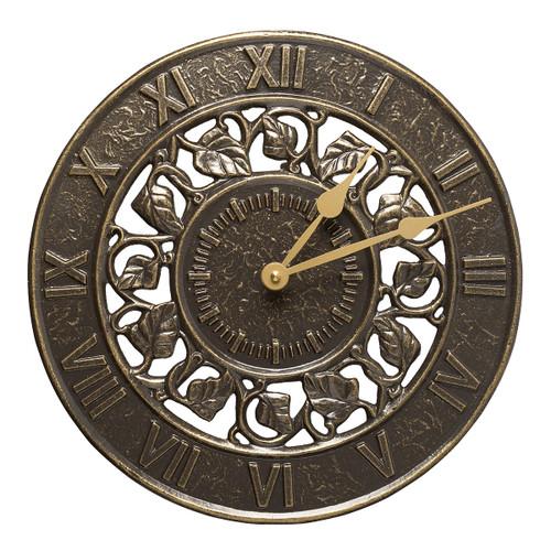 Ivy Indoor/Outdoor Wall Clock - French Bronze