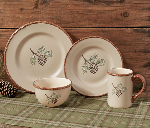 Northern Pinecone Dinnerware Collection