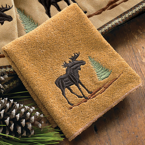 Moose & Pine Wash Cloth