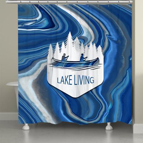 Keystone Lake Shower Curtain