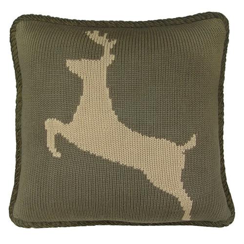 Knitted Deer Pillow
