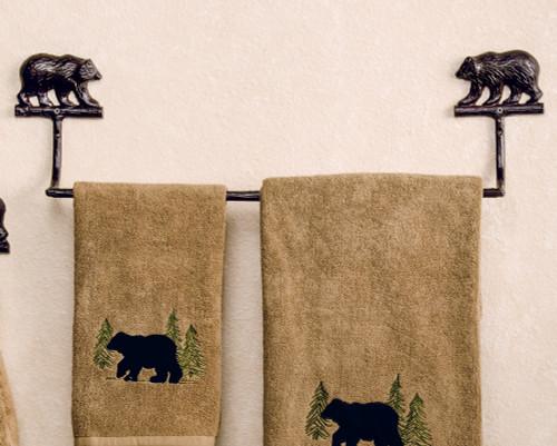 Kodiak Bear Cast Towel Bar - 16 Inch