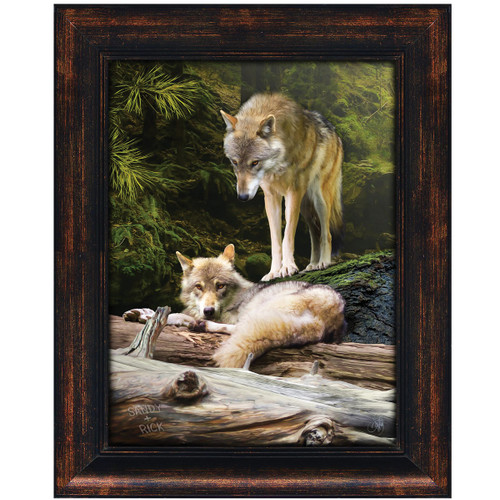 Wild Wolves Personalized Framed Canvas