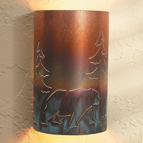 Copper Bear Sconce