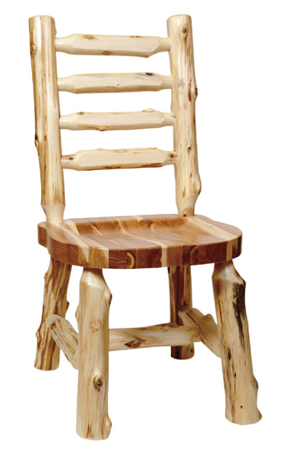 Ladder Back Log Side Chair