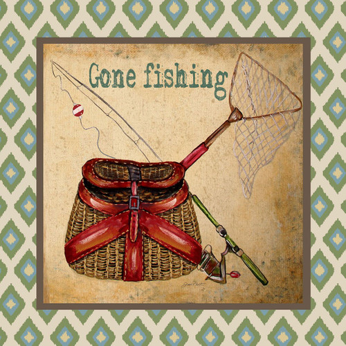 Lake Life - Gone Fishing Canvas Art