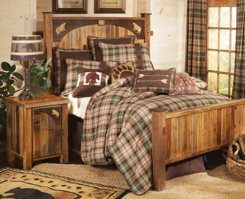 Barnwood Bear Carvings Furniture Collection