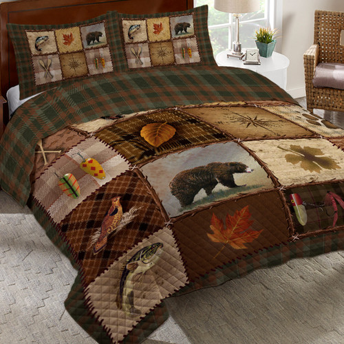Lake Panels Quilt Bed Set - Queen
