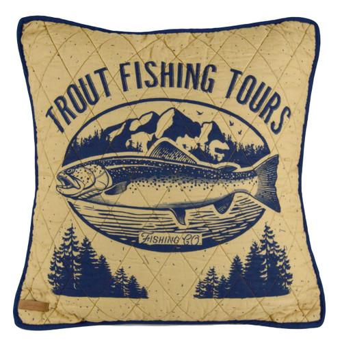Lake Retreat Trout Pillow