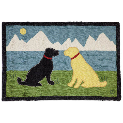 Lake Side Labs Hooked Wool Accent Rug