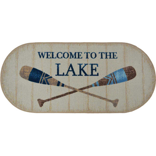 Lake Welcome Oval Accent Rug