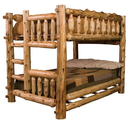 Full/Full Log Bunk Bed