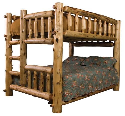 Full/Queen Log Bunk Bed