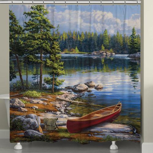 Lakeside Canoe Shower Curtain