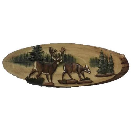 Lakeside Deer Wood Wall Art