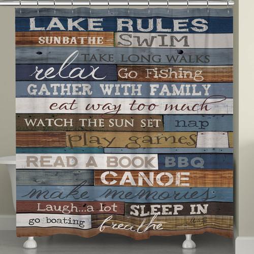 Lakeside Getaway Shower Curtain
