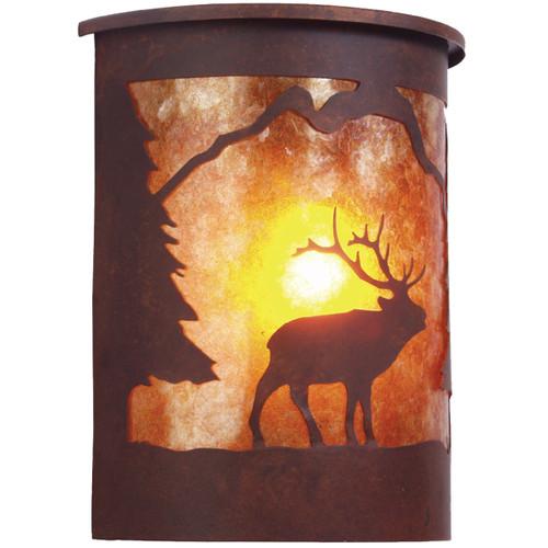 Laramie Elk Wet Location Sconce - Rust